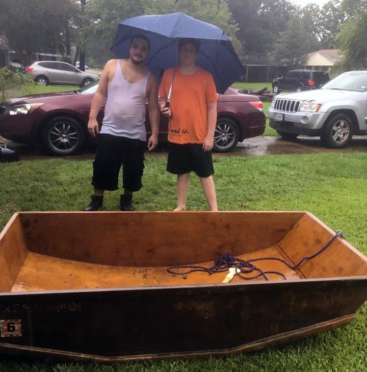 Aaron Callender and the boat